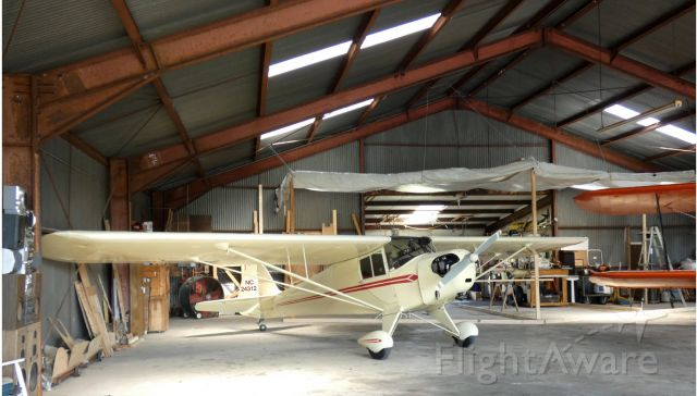 TAYLORCRAFT (1) BL (N24312) - Hanging out in the main hangar is this 1940 Taylorcraft BL in the Summer of 2020.