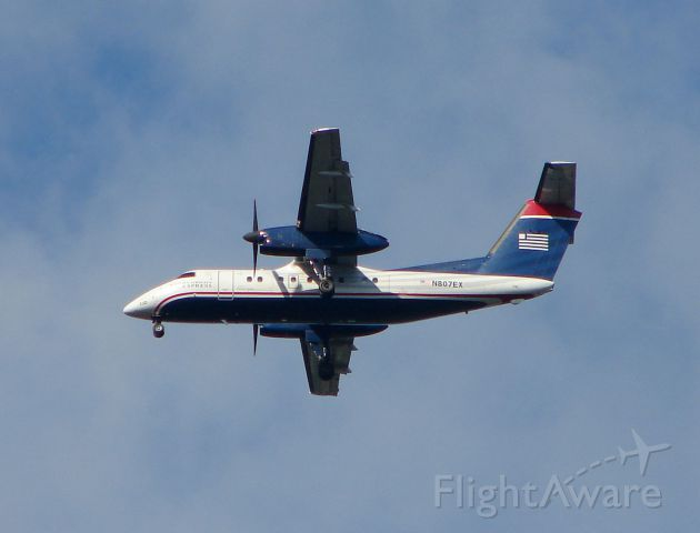 N807EX — - On final approach to runway 34