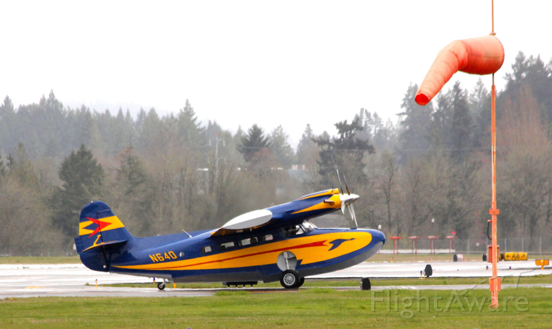 McKinnon Turbo Goose (N640) - McKinnon Turbo Goose (twin-turboprop) arriving KHIO Hillsboro, OR.