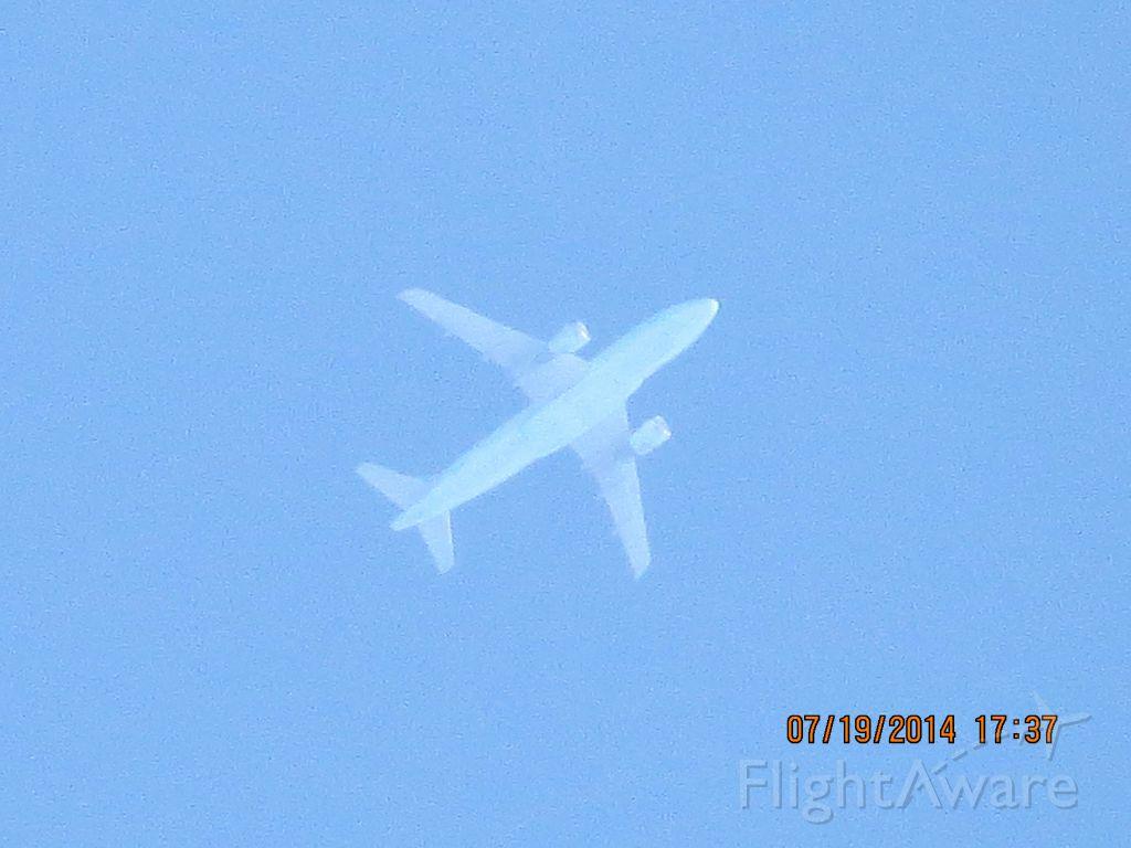 Airbus A319 (C-GARG) - Air Canada flight 1731 from Varadero to Calgary over Baxter Springs KS (78KS) at 36k feet.