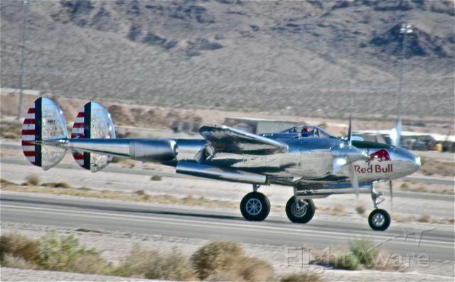 Lockheed P-38 Lightning (N25Y) - RED BULL,P-38,LIGHTNING  AVIATION NATION,NELLIS AFB,2008