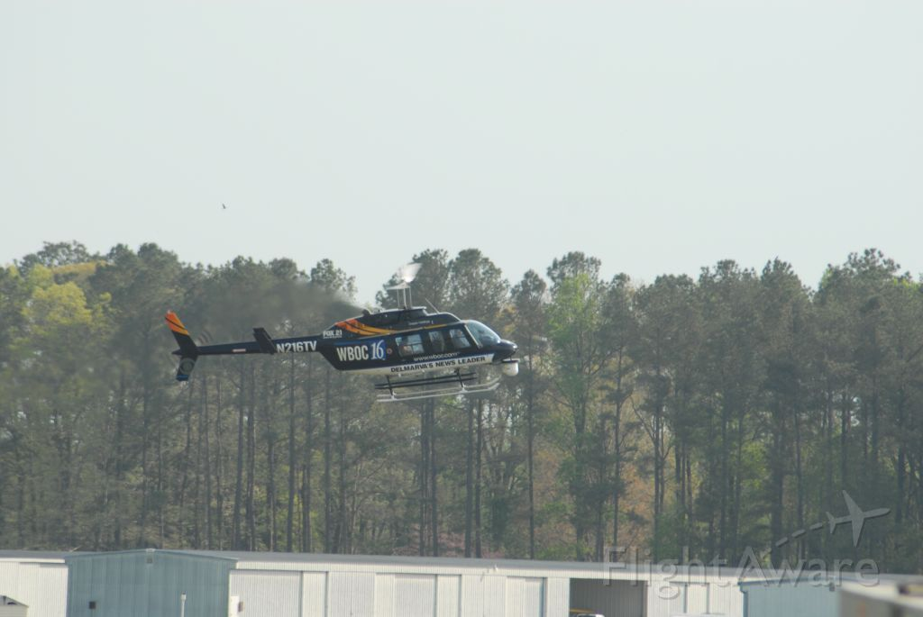 N216TV — - Bell 206L at SBY Airport. returning from a story. WBOC TV News Helicopter
