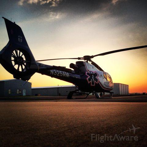 N325AM — - Sunrise at work looking at Tulsa Life Flight 3.