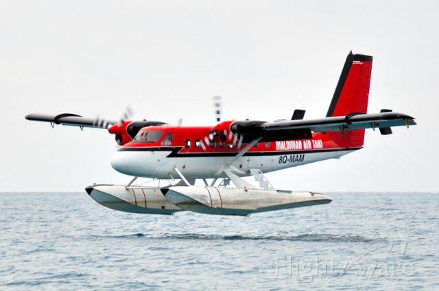 De Havilland Canada Twin Otter (8Q-MAM) - 2006 - Ellaidhoo Is., Seaplane approaching to land in rain storm