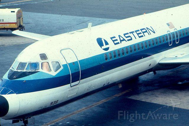 Douglas DC-9-10 — - Eastern DC-9 approaches pier C at KBWI.  Circa 1968-70