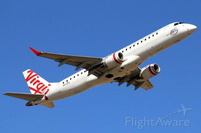 Embraer ERJ-190 (VH-ZPQ) - VIRGIN AUSTRALIA AIRLINES - EMBRAER ERJ-A90-1001GW 190AR - REG VH-ZPQ \(CN 19000412) - ADELAIDE INTERNATIONAL SA. AUSTRALIA - YPAD (19/11/2014)TAKEN WITH A CANON 550D CAMERA AND CANON 300MM FIXED LENSE.