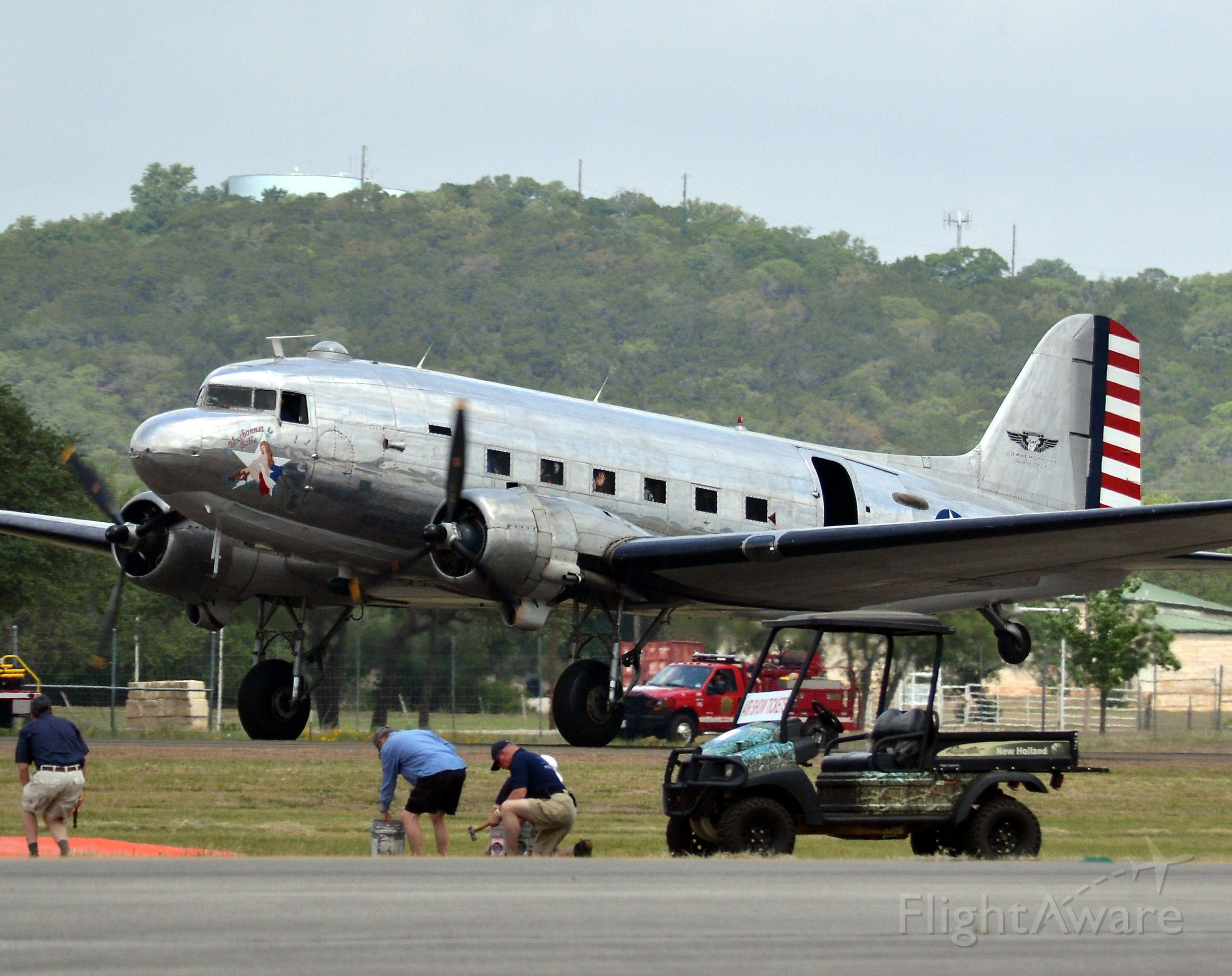 Piper Cheyenne 400 (N47HL) - 1944 c47b at temple tx. airshow.