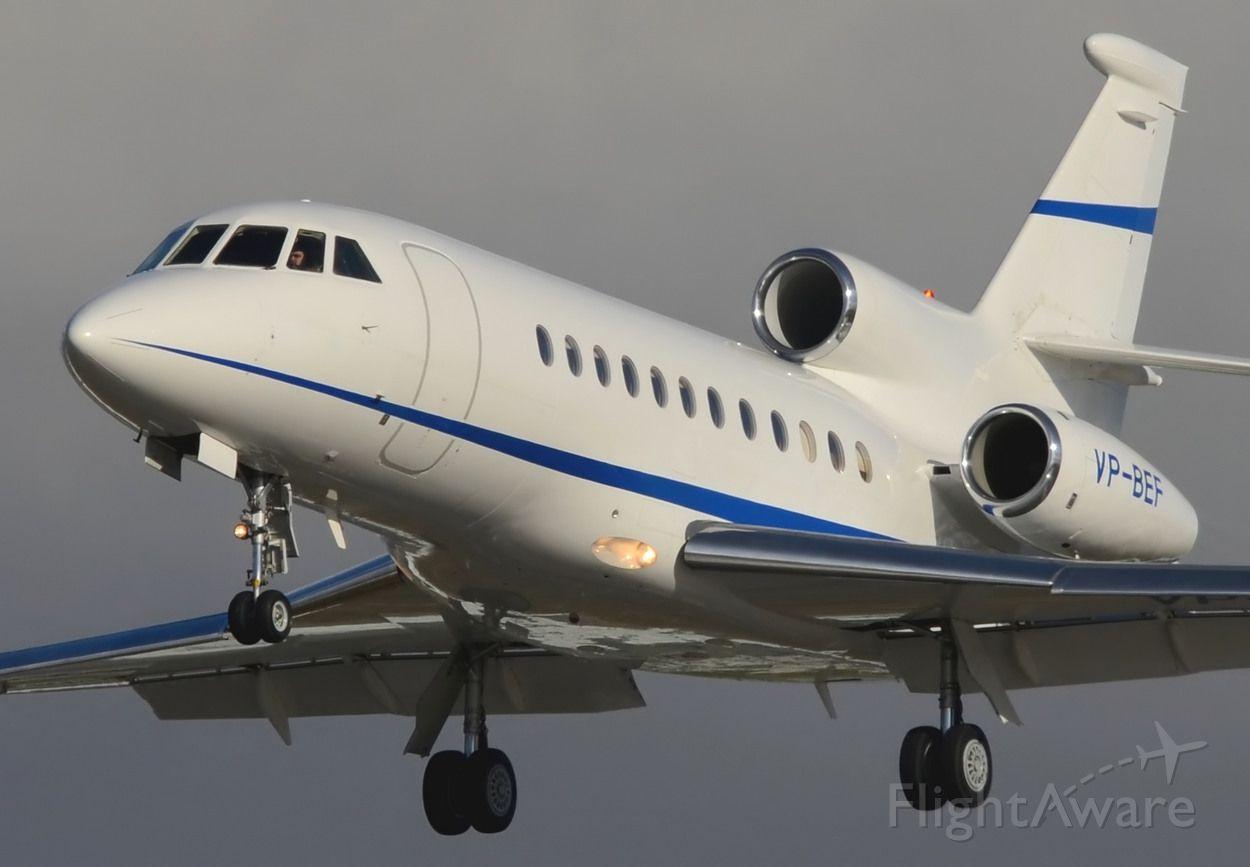 Dassault Falcon 900 (VP-BEF) - 07/02/2014br /Landing 27