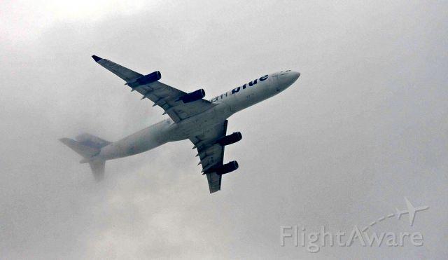 Airbus A340-300 (AP-EDF) - Runway side...