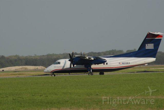 N810EX — - Dash 8 100 Service from PHL in the new USAirways Paint Scheme.