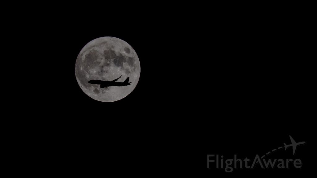 Airbus A321neo — - HAL64, Lihue-LAX,  with a flyover of the full moon, 8-14-2019.