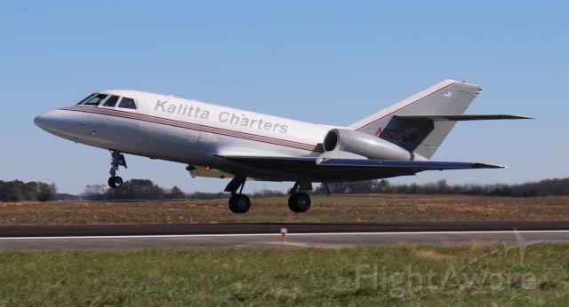 Dassault Falcon 20 (N820CK) - A Kalitta Charters Dassault / SUD Fan Jet Falcon 20C-5 departing Pryor Regional Airport, Decatur, AL - November 17, 2020.