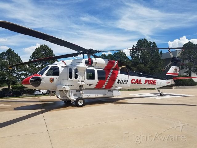 N482DF — - Cal fires copter 101 for mendocino county is almost done