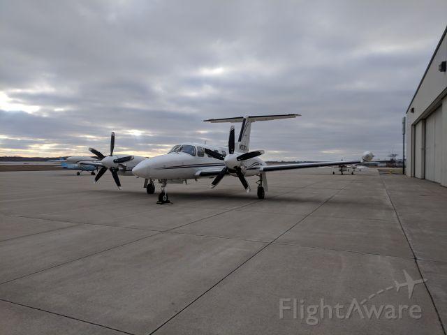 Piper Cheyenne 400 (N37KW) - Purdue Aviation ramp at LAF, 2019.02.16
