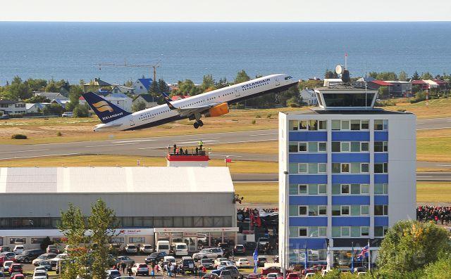 TF-FIZ — - TF-FIZ Takeoff on Reykjavik Domestic airport in Iceland. Flight day demonstration 2011