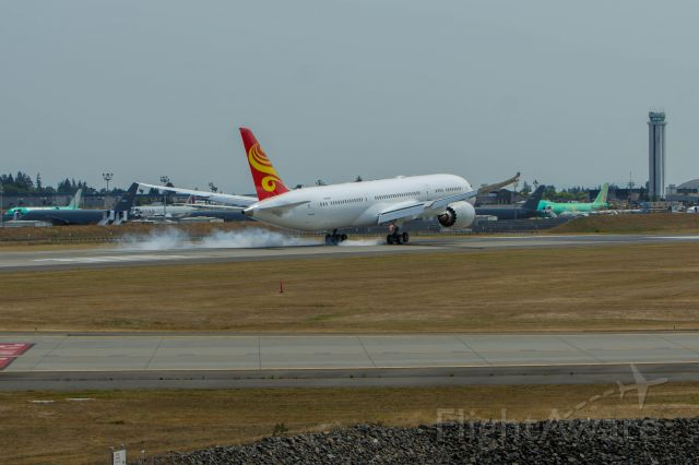 Boeing 787-8 (N1002R) - A Hainan Airlines 787 completes a 30 minute flight from Moses Lake WA