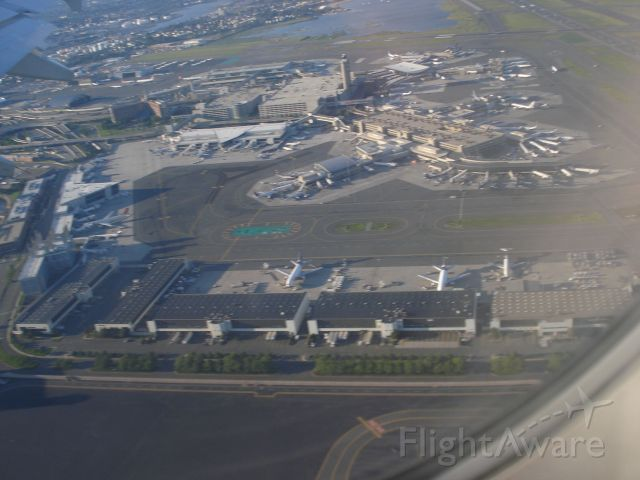 EMBRAER 195 — - VIEW OF BOSTON LOGAN FROM INITIAL ROLLOUT