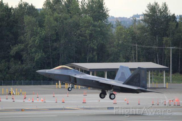 Lockheed F-22 Raptor — - Landing At Elmendorf
