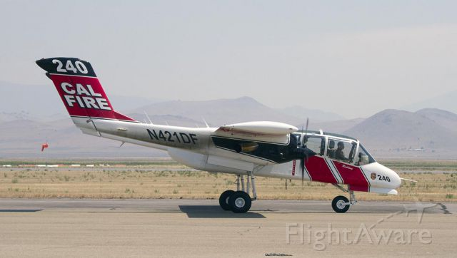 N421DF — - On the ground to refuel at Siskiyou County Airport.  CalFire OV10.