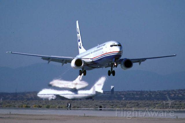 Boeing 737-900 (N737X) - 737-900 Prototype N737X at Edwards Air Force Base on November 2, 2000.