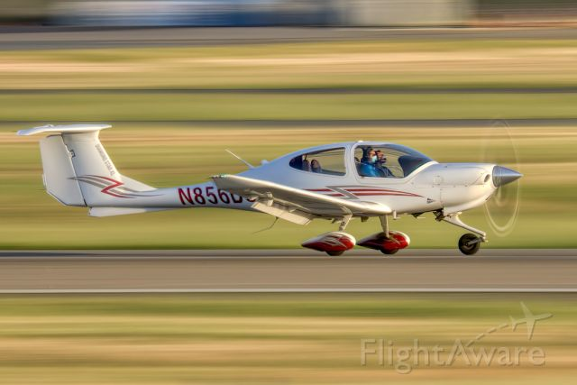 Diamond Star (N856DS) - Diamond DA40 XL evening touch and go at Livermore Municipal Airport (CA). April 2021
