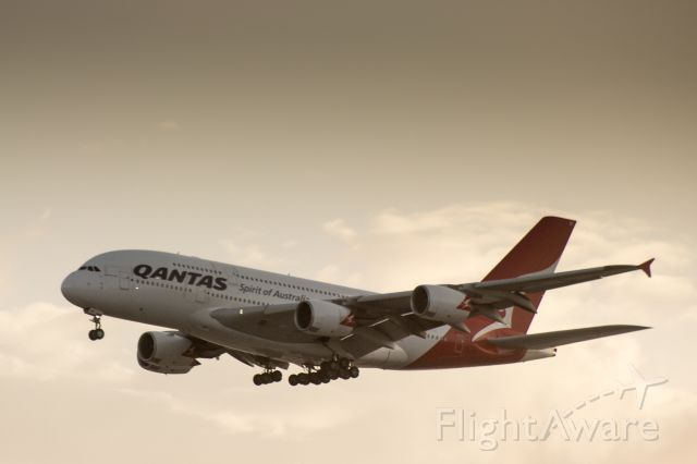 Airbus A380-800 — - Qantas A380 landing and LAX