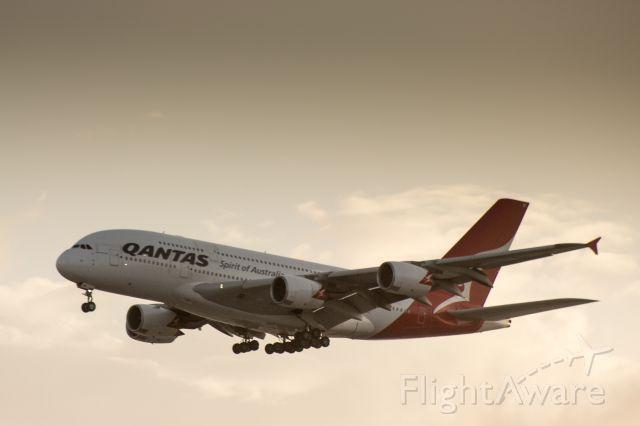 Airbus A380-800 — - Qantas A380 landing and LAX