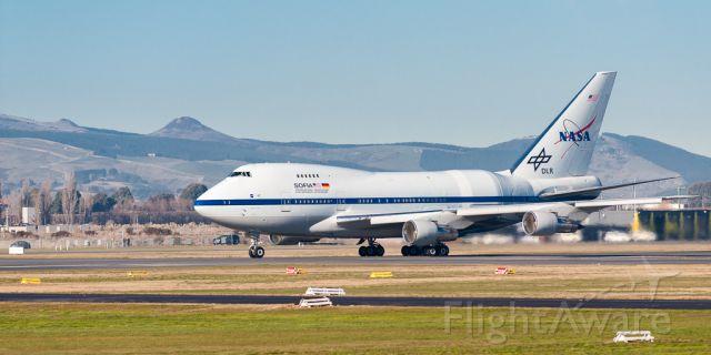 BOEING 747SP (N747NA) - SOFIA accelerating hard down Runway 02 for a long flight northward to Palmdale CA via Honolulu Hawaii.