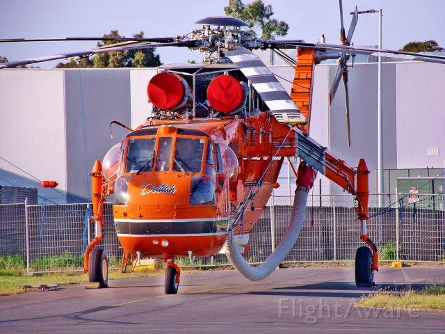 Sikorsky CH-54 Tarhe (N194AC) - N194AC after arriving at Moorabbin airport Australia for the fire season
