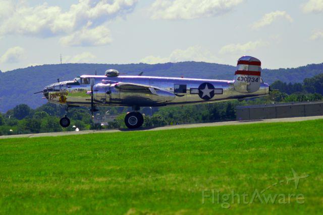 North American TB-25 Mitchell (43-0734) - Panchito landing runway 6 at KABE