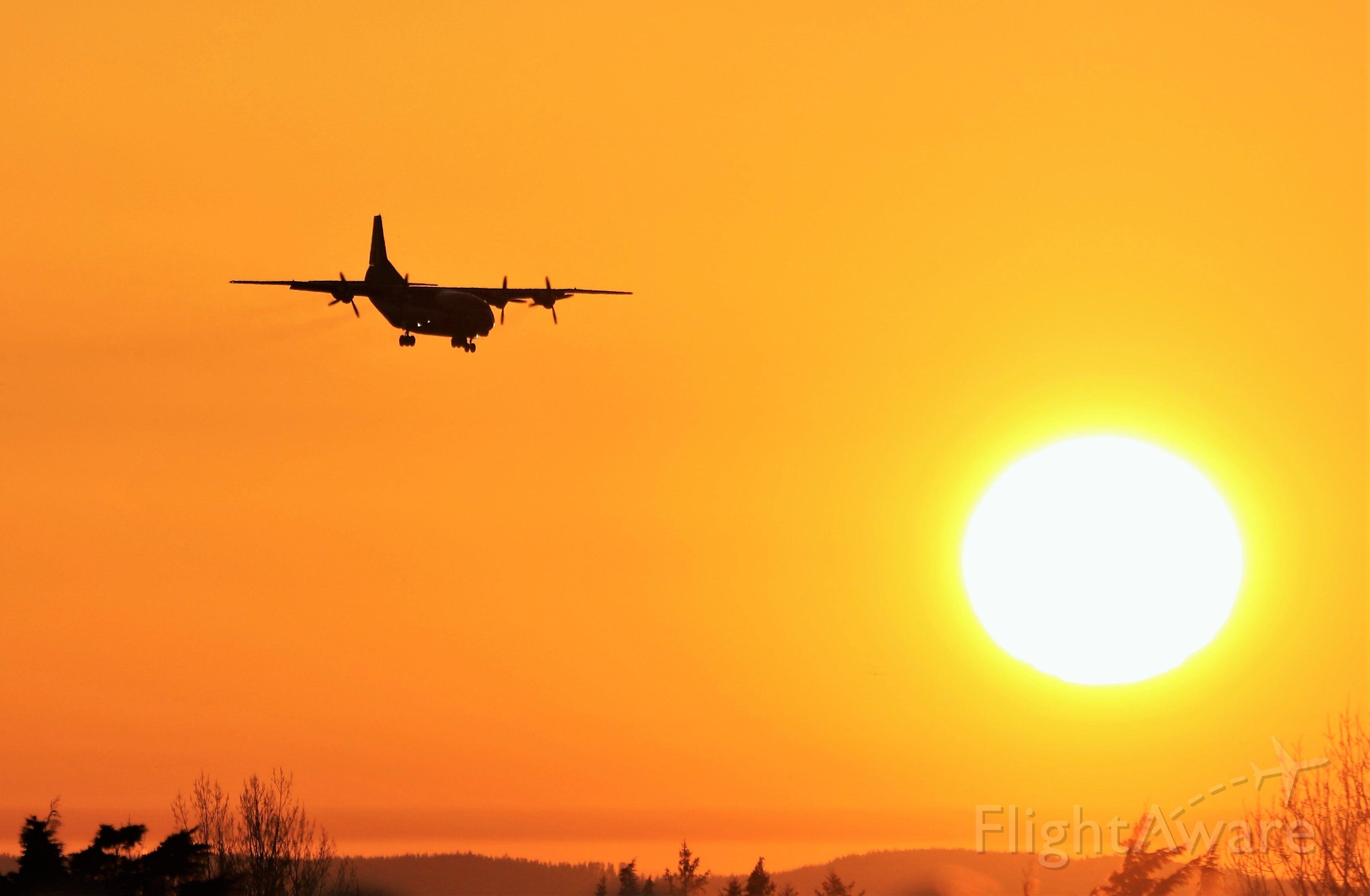 Antonov An-12 (UR-CKM) - cavok air an-12bp landing at shannon this evening 28/2/21.