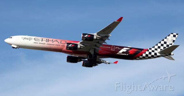 Airbus A340-600 (A6-EHJ) - Climbing Out From Rwy 34L