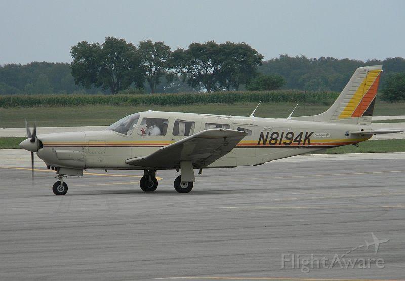 Piper Saratoga (N8194K) - Seen departing Sterling/Rock Falls, Whiteside Co. Airport, Illinois 22 July 2010. Destination: Mattoon/Charleston Airport, Illinois  @2010 Gary C. Orlando Photo.