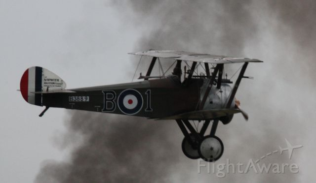 B-3889 — - Sopwith Camel flying through the smoke of the battle at Avalon Air Show 2015