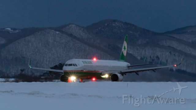 Airbus A321 (B-16219) - Eva Airways / Airbus A321-211<br />Jan.24.2016 Hakodate Airport [HKD/RJCH] JAPAN