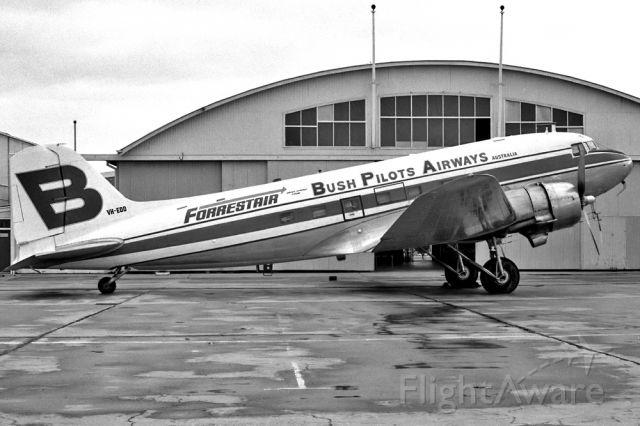 Cessna Skyhawk (VH-EDD) - BUSH PILOTS AIRWAYS - BPA - DOUGLAS C-47A SKYTRAIN (DC-3) - REG VH-EDD (CN 25367/13922) - CAIRNS QUEENSLAND AUSTRALIA - YBCS (18/8/1974) 35MM B/W NEGATIVE SCAN.