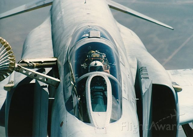 McDonnell Douglas F-4 Phantom 2 — - Pilot of F-4 waving at us in the refueling pod of a KC-10 over eastern New Mexico fall of 1985