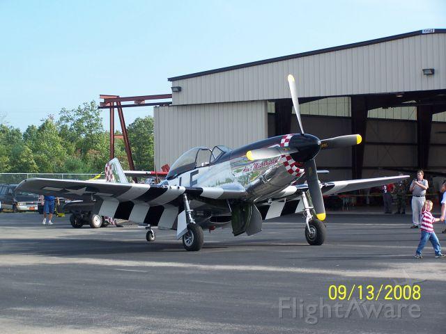North American P-51 Mustang (N51KB) - Scott County, Oneida Tn. airshow, Sept. 2008.