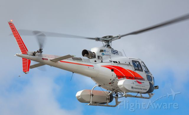 Eurocopter AS-350 AStar (ZK-IBR) - Arriving at Christchurch for transporting to Antarctica aboard a fixed wing machine.