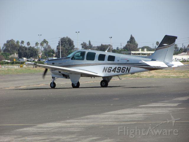 Beechcraft Bonanza (36) (N6496N) - Taxiing to RWY 26L