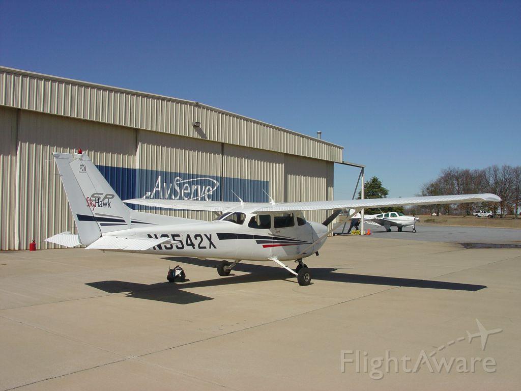 Cessna Skyhawk (N3542X) - Avserve ramp at Donaldson Airport in Greenville, South Carolina.