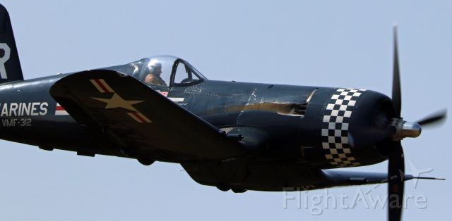 Cessna Conquest 1 (N179PT) - CHANCE VOUGHT(restored as Bu 122179) F4U-5 Corsair making a low pass 5 OCT 2019 at Wings Over Winston airshow.