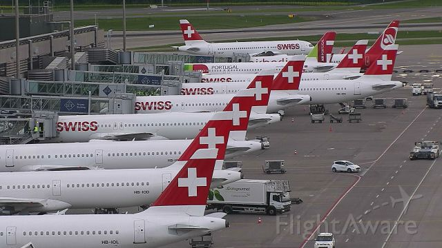 — — - Tail line up at Zurich