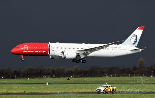 Boeing 787-9 Dreamliner (G-CKWS) - norwegian air uk b787-9 g-ckws landing at shannon from stavanger for parking 12/3/21.