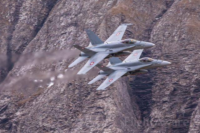 McDonnell Douglas FA-18 Hornet (J5012) - Swiss Air Force<br />Boeing F/A-18 C (J-5012 / J-5008) at Axalp shooting range