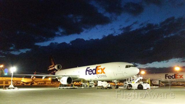 Boeing MD-11 (N608FE) - Early morning MD11, FedEx ramp SEATAC.