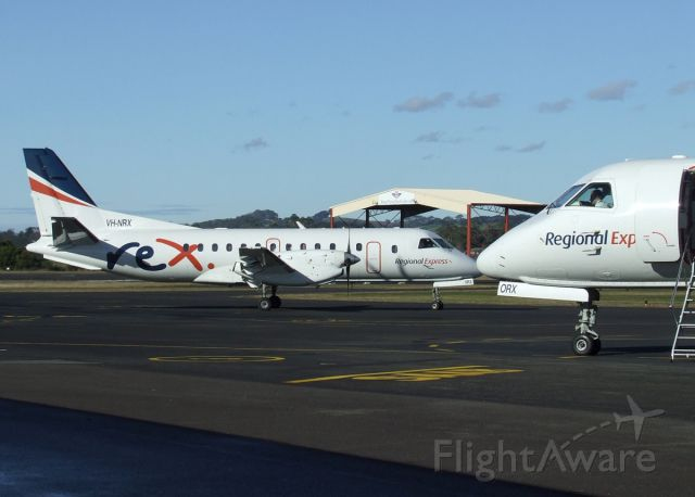 Saab 340 (VH-NRX) - .... with twin VH-ORX