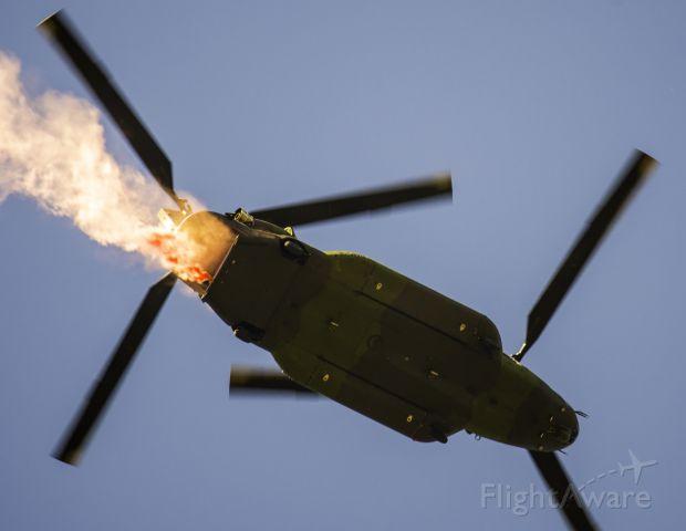 ASAP Chinook — - Skyhawk jumper smoke from rear of the CHinook
