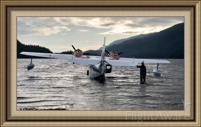 Grumman Goose (C-GYVG) - West coast Vancouver Island preparing to depart home.