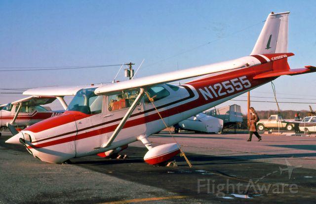 Cessna Skyhawk (N12555) - Tornado Damage at Trenton-Robbinsville Airport in 1975